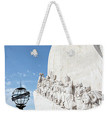 Weekender Tote Bag featuring the photograph Monument Of The Discoveries by Rebecca Cozart
