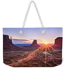 Monument Valley Weekender Tote Bag by Eduard Moldoveanu