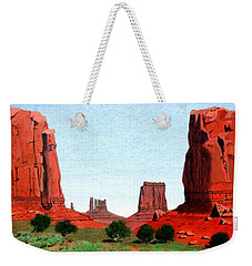 Monument Valley North Window Weekender Tote Bag by Mike Robles
