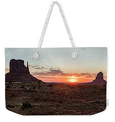 Monument Valley Sunrise  Weekender Tote Bag