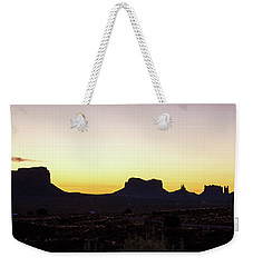 Weekender Tote Bag featuring the photograph Monument Valley Sunrise, Utah by A Gurmankin