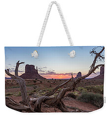 Monument Valley Sunrise With Wood  Weekender Tote Bag