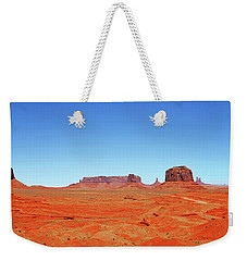 Monument Valley Two Weekender Tote Bag by Paul Mashburn