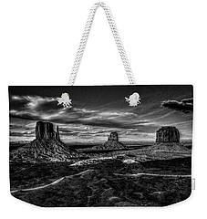 Monument Valley Views Bw Weekender Tote Bag