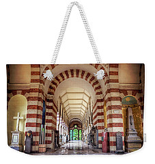 Weekender Tote Bag featuring the photograph Monumental Cemetery In Milan Italy  by Carol Japp