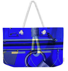 Weekender Tote Bag featuring the photograph Mood Blue by Wayne Sherriff