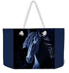 Weekender Tote Bag featuring the digital art Moody Blues by Melinda Hughes-Berland