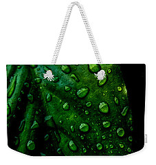 Moody Raindrops Weekender Tote Bag by Parker Cunningham