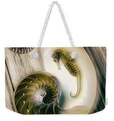 Moody Seahorse Weekender Tote Bag