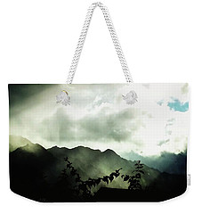 Weekender Tote Bag featuring the photograph Moody Weather by Mimulux patricia no No