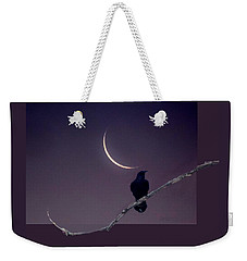 Moon And Raven Abstract Weekender Tote Bag