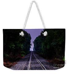 Moon And Steel Weekender Tote Bag
