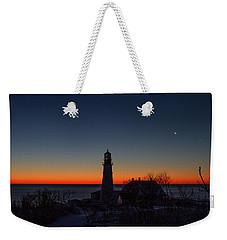 Moon And Venus - Headlight Sunrise Weekender Tote Bag