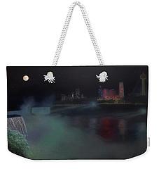 Moon At Niagara  Weekender Tote Bag