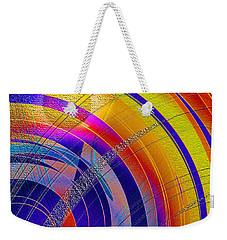 Weekender Tote Bag featuring the digital art Moon Blanket 2 by Iris Gelbart