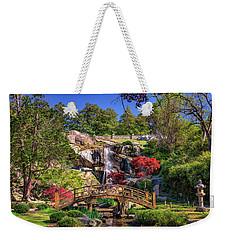 Weekender Tote Bag featuring the photograph Moon Bridge And Maymont Falls by Rick Berk