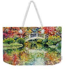 Moon Bridge Weekender Tote Bag by Hailey E Herrera
