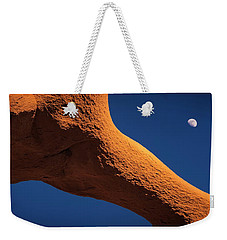Weekender Tote Bag featuring the photograph Moon Dance by Edgars Erglis