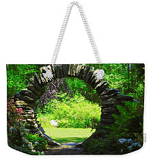 Moon Gate At Kinney Azalea Gardens Weekender Tote Bag