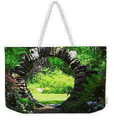 Moon Gate At Kinney Azalea Gardens Weekender Tote Bag