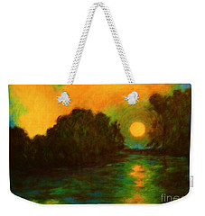 Weekender Tote Bag featuring the painting Moon Glow by Alison Caltrider