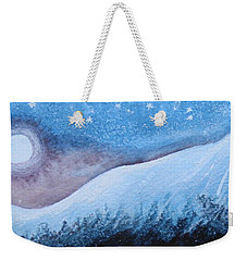 Weekender Tote Bag featuring the painting Moon Glow by Margaret Bobb