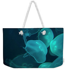 Weekender Tote Bag featuring the photograph Moon Jellyfish 02 by Chris Flees