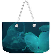 Weekender Tote Bag featuring the photograph Moon Jellyfish 3 by Chris Flees