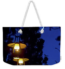 Weekender Tote Bag featuring the photograph Moon Lanterns by Mark Andrew Thomas