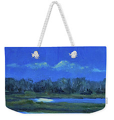 Weekender Tote Bag featuring the painting Moon Light And Mud Puddles by Billie Colson