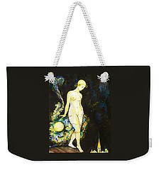 Weekender Tote Bag featuring the drawing Moon Light by Anna  Duyunova