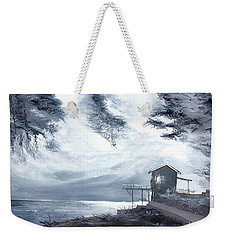 Weekender Tote Bag featuring the painting Moon Light New by Anil Nene