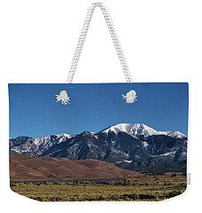 Moon Lit Colorado Great Sand Dunes Starry Night  Weekender Tote Bag by James BO Insogna