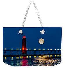 Moon Over Grand Haven Weekender Tote Bag