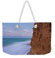 Weekender Tote Bag featuring the photograph Moon Over Hutchinson Island Beach by Justin Kelefas