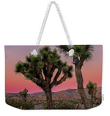 Weekender Tote Bag featuring the photograph Moon Over Joshua Tree by John Hight
