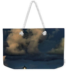 Moon Over Lighthouse Weekender Tote Bag
