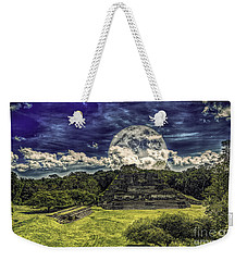 Moon Over Mayan Temple Two Weekender Tote Bag