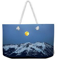 Moon Over Mt Gunnison Colorado Weekender Tote Bag
