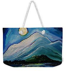 Moon Over Pioneer Peak Weekender Tote Bag