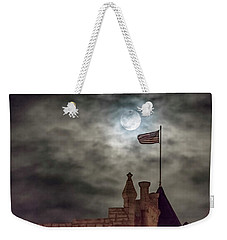 Moon Over The Bank Weekender Tote Bag by Rob Graham