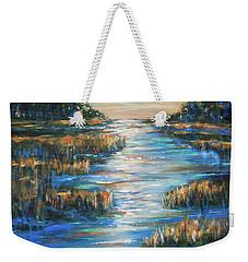 Moon Over Waterway Weekender Tote Bag