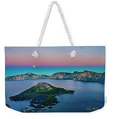 Moon Over Wizard Island Weekender Tote Bag