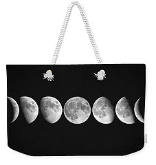 Moon Phases Weekender Tote Bag by Taylan Apukovska