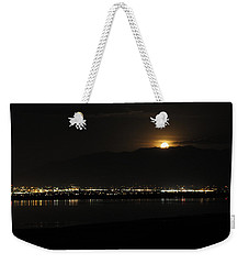 Weekender Tote Bag featuring the photograph Moon Rise At Washatch by Norman Hall