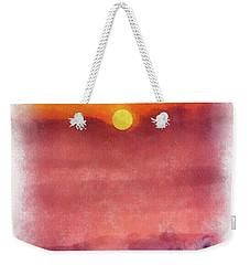 Moon Rise In Aquarelle Weekender Tote Bag