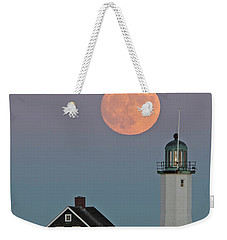 Moon Rise Over Scituate Weekender Tote Bag