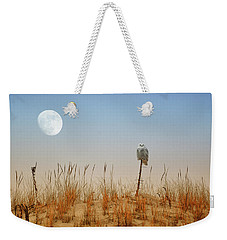 Moon Rise Snowy Owl Weekender Tote Bag