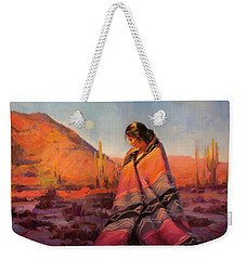 Weekender Tote Bag featuring the painting Moon Rising by Steve Henderson