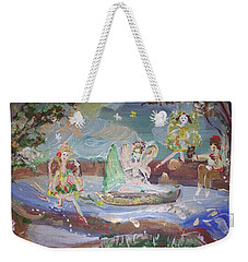Moon River Fairies Weekender Tote Bag by Judith Desrosiers
